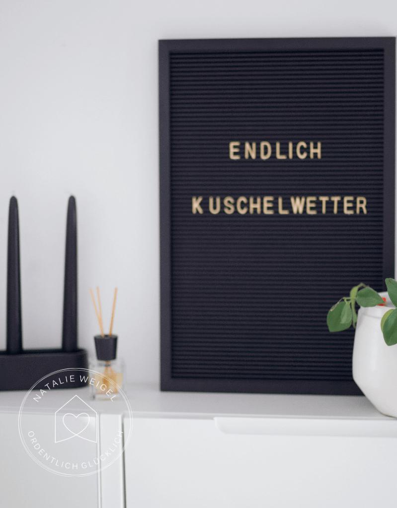 Dekoration Flur mit Letterboard