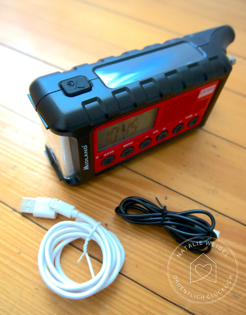 Solarradio aufladen Handy