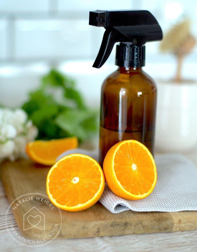 Putzmittel aus Orangenschalen