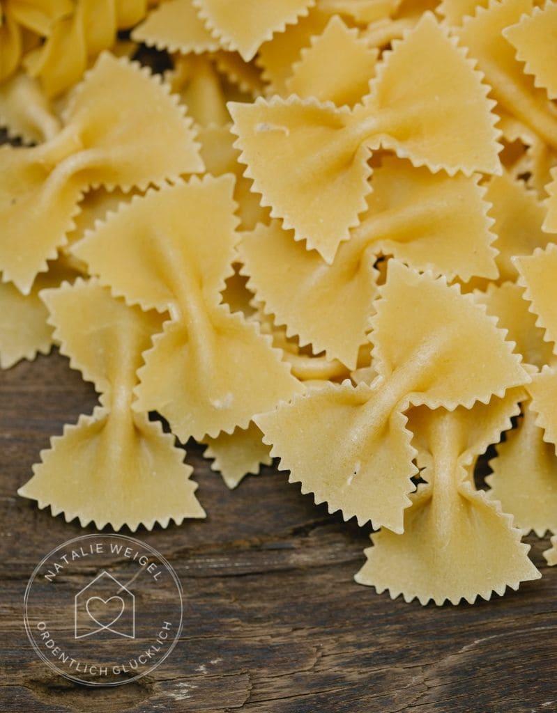 Pasta für den Vorrat